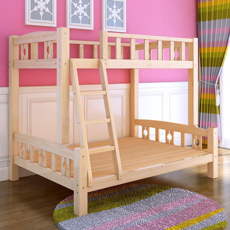 Cheap direct on pine wood bunk beds children bed picture for Inexpensive bunk beds