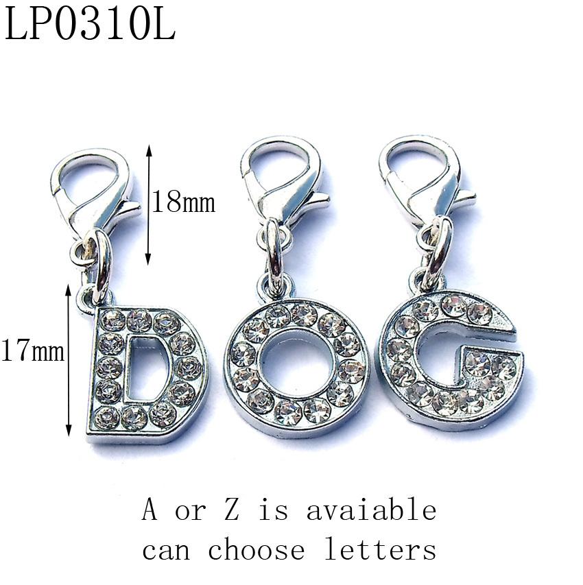 17mm Kids Fashion Rhinestones Silver Zinc Alloy Initial Letter DIY Pets Charms,Free Shipping Wholesale 1300pcs/lot #LP0310L<br><br>Aliexpress