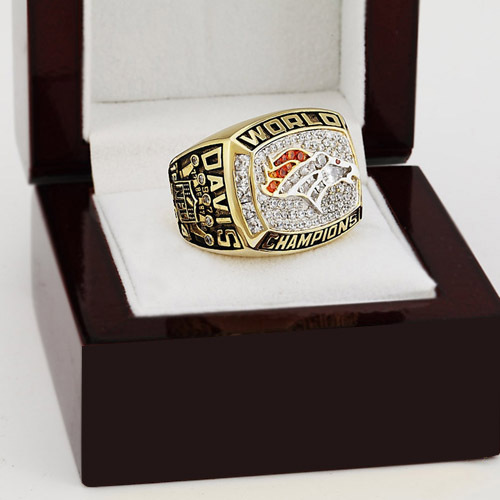 1997 Denver Broncos XXXII Super Bowl Football Championship Ring Size 10-13 With High Quality Wooden Box Fans Best Gift(China (Mainland))