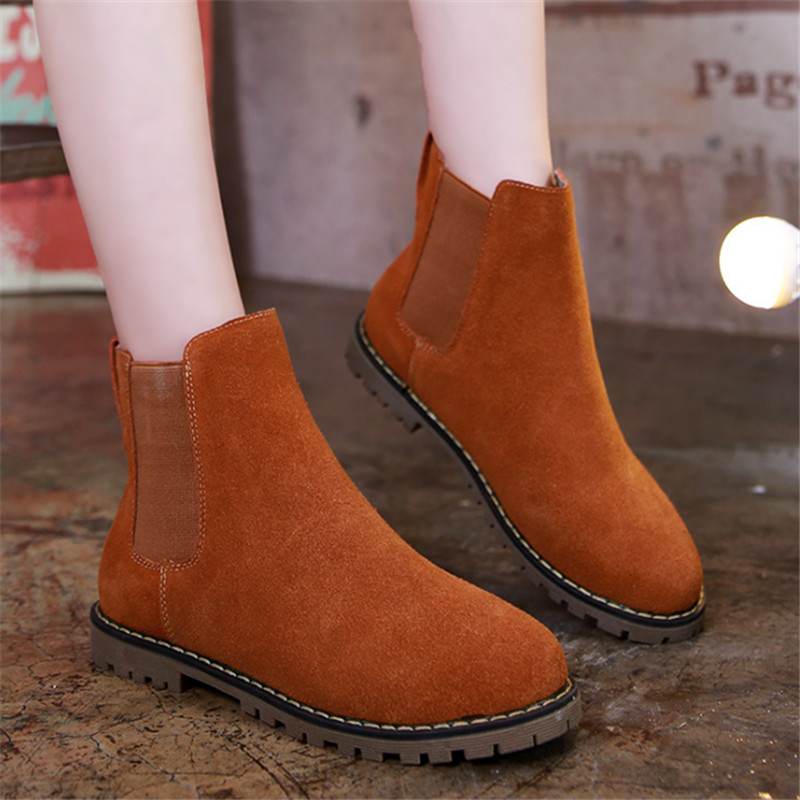 Fashion Womens Ankle Boots Shoes Classic Faux Suede Womens Snow Boots Shoes Winter 2015 New Arrival Womens Shoes Big Size(China (Mainland))