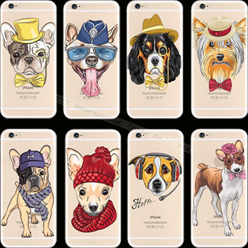 Top Fashion Pattern Pet Dog Silicon Phone Cover Cases For Apple iPhone 6 iPhone 6S iPhone6 iPhone6S Case Shell AOR URA AMM DNB(China (Mainland))