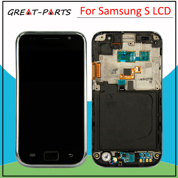 For Samsung Galaxy S I9000 LCD with frame touch screen display with digitizer Assembly Free shipping(China (Mainland))