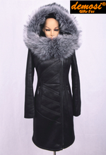 Factory direct supplier 2015 new women's fashion fox fur collar thick winter coat large size S-7XL Hooded Slim Free Shipping(China (Mainland))