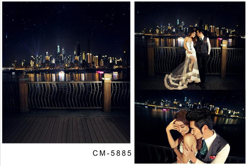 300cm*600cm(10ft*20ft) wedding background Fences bright night  photo backdrops photography backdrops cm-5885<br><br>Aliexpress
