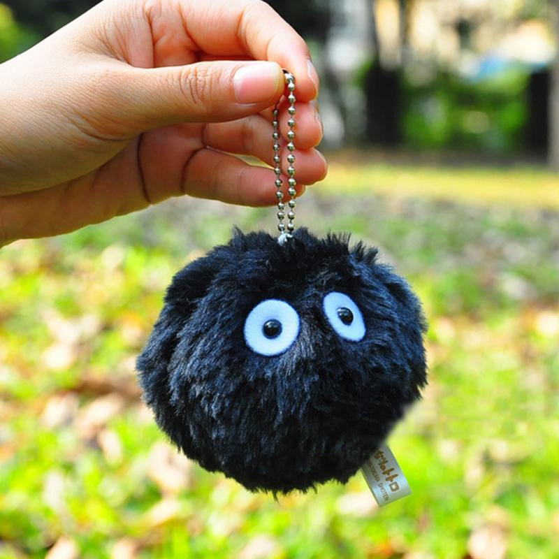 3pcs/set 7cm My Neighbor Totoro BC briquettes Charcoal dust Elf Plush toys ornaments(China (Mainland))