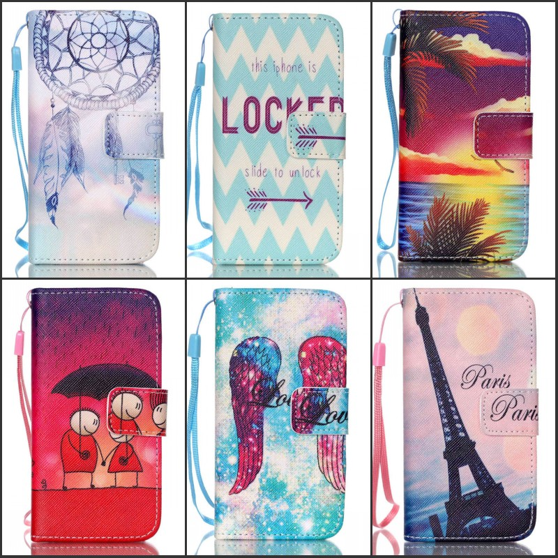 For iphone 5 5G 5S Fashion Cell Phone Case Wallet Cartoon Flip Leather Back Cover With Stand Function(China (Mainland))