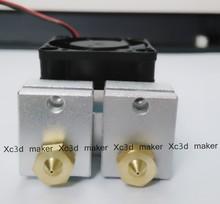 3d printer double extruder mk8 e3d v6 0 2mm 0 3mm 0 4mm nozzle kit reprap