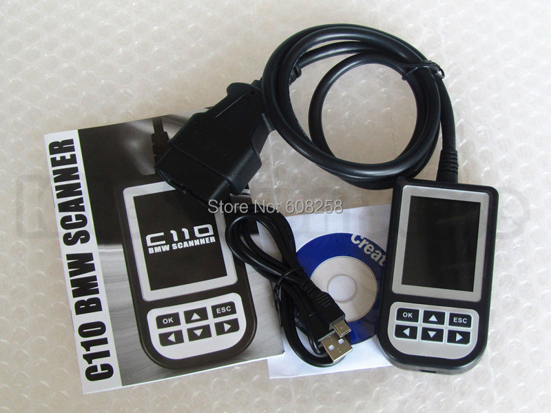 Creator C110 Airbag/ABS/SRS Diagnostic tool Fault Trouble Code Scanner Reader For BMW tools electric(China (Mainland))