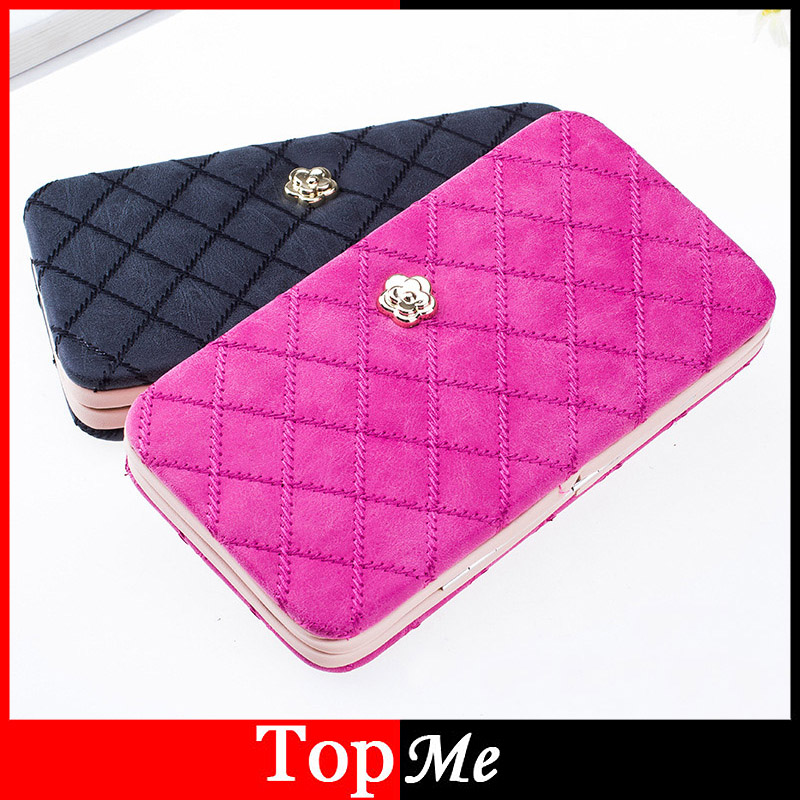 Women Wallets Box Lady Handbags Matter PU Leather Metal Purse Cards ID Holder Woman Long Wallet Handbags Moneybags Burse Bags(China (Mainland))