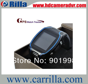 Free shipping 1.5 inch with SOS cell phone watch mini personal gps tracker for persons and pets(HC608)