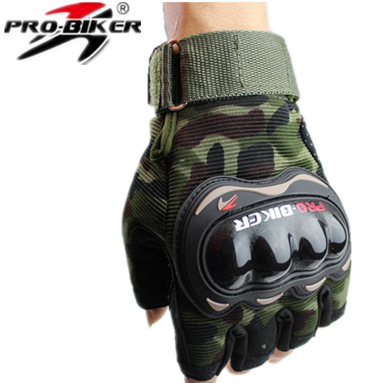 Pro semi-finger gloves knight gloves motorcycle gloves semi-finger drop resistance gloves(China (Mainland))