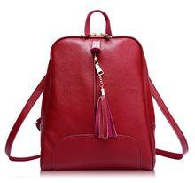 Red Casual Back Bags Women Bag New 2016 Handbags Zipper Tassel Versatile Back Women Messenger Bags 2016