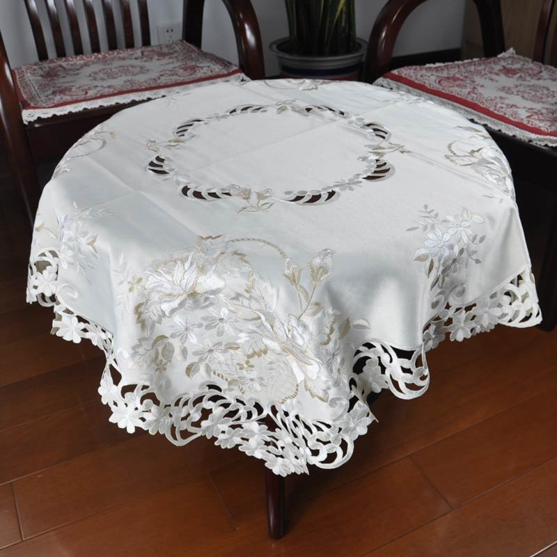 tablecloths DMD home textile drawnwork fabric christmas gift embroidery table linen wedding partym FREE SHIPPING HIGH QUALITY(China (Mainland))