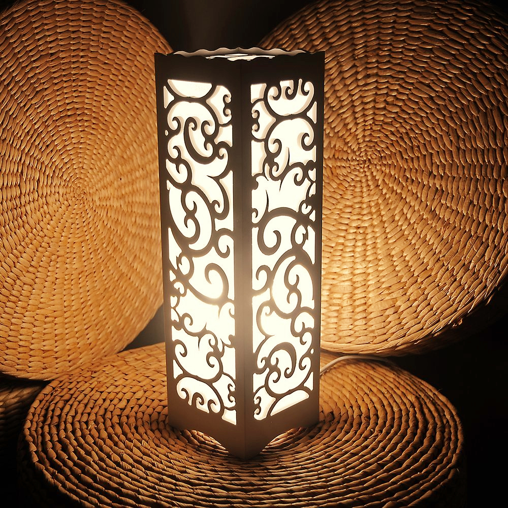 Decorative table lamp vintage Wood Plastic Rustic Style Brief Modern Lampshade Living Room Bedroom 110-220V desk light(China (Mainland))