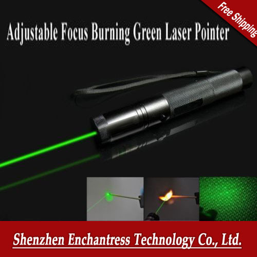 Free Post High quality Burning Laser 303 Real 200mw 532nm Green Laser Pointer Pen Zoomable Burning Matches Lazers + Star Head(China (Mainland))