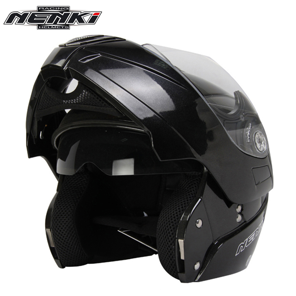 NENKI Motorcycle Full Face Helmet Modular Flip Up Street Bike Moto Motorbike Racing Rding Helmet with Dual Visor Sun Shield Lens(China (Mainland))