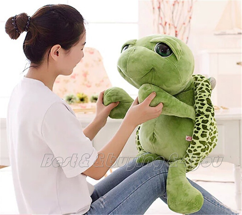 1x 80CM 31inch Giant Stuffed Animal Lovely Tortoise Turtle Plush Doll Toy Pillow Free shipping (70709003)(China (Mainland))
