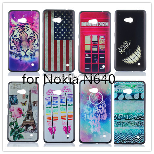 2015 New Arrive luxury Hard Case Cover For Nokia Lumia 640 N640 Cases 3D Painted Tiger Sexy Girl Customized Patterns Support(China (Mainland))
