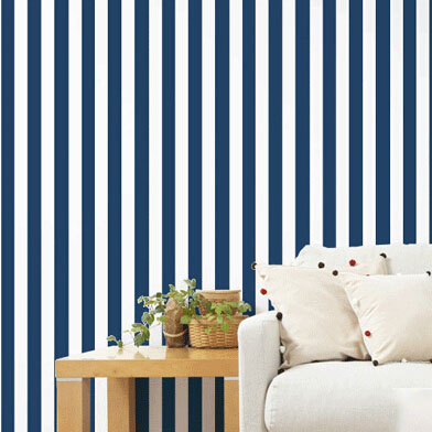 green and blue striped wallpaper