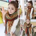 Essential Fashion Women Girls Striped Winter Autumn Silk Scarves Soft Scarf Wrap Shawl