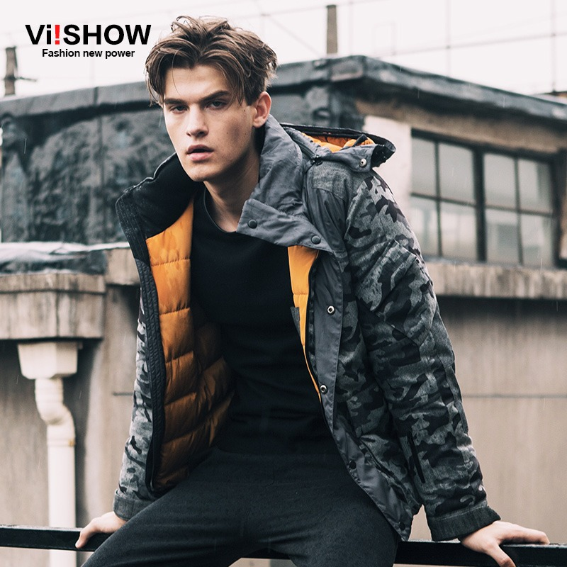 VIISHOW Brand Camouflage Winter Jacket Men Hooded Parka Coat Clothing mens winter warm jackets Oversize 5XL men's coats - Viishow Official Flagship Store store