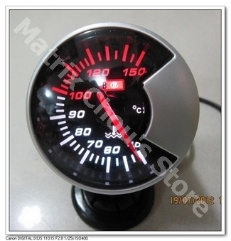 2.5 INCH 60MM Water Temp Gauge, Water Temperature, Black Smoke Style Face, Car Gauge, Car Meter, Include Sensor and Wires(China (Mainland))