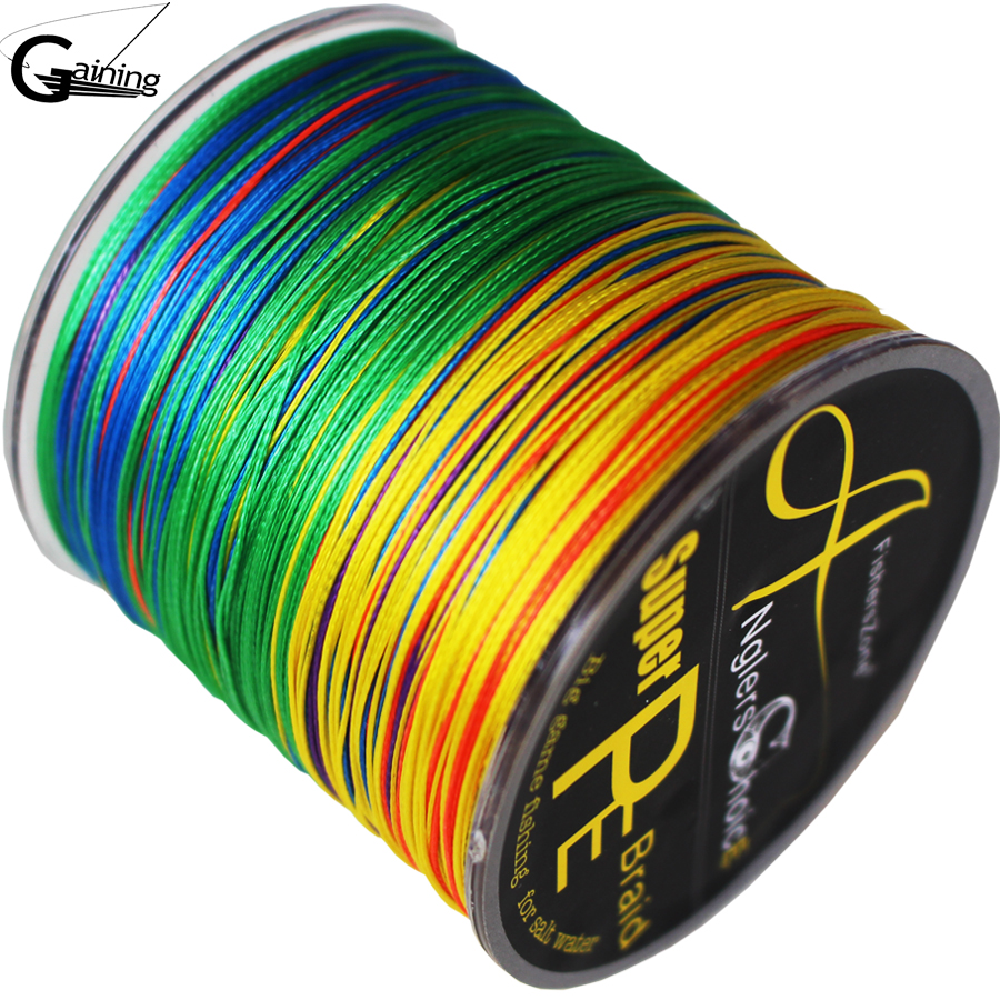 8 Strands Braided Fishing line 300m Multi Color Super Strong Japan Multifilament PE braid line 10LB 20LB 30LB 40LB 100LB200LB(China (Mainland))
