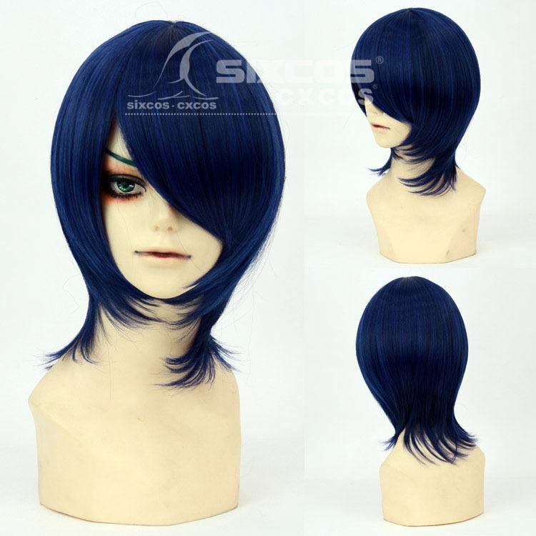 Free! - Ryugazaki Rei/kageyama tobio Fashion Mens Short Hair Universal Natural Anime Game Cosplay wigs  color Dark Blue<br><br>Aliexpress