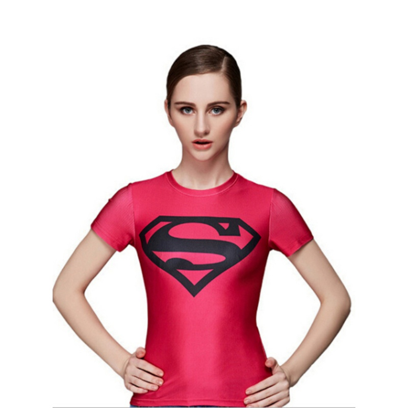 2016 Summer Captain America T Shirt Short Sleeve Iron Man Batman Superman Slim Tops For Women Kawaii Tee Shirt Femme(China (Mainland))