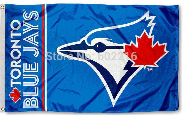 Toronto Blue Jays Team Logo Large Outdoor Flag Banner 3ft x 5ft Size No.4 144* 96cm Custom flag(China (Mainland))