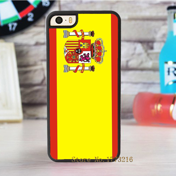 Spain Flag fashion cover case for iphone 4 4s 5 5s 5c for 6 & 6 plus(China (Mainland))