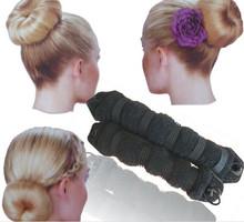2PCS Sponge Hair Styling Donut Bun Maker Black Coffee Skin Color Magic Shaper Styler Hairdo DIY