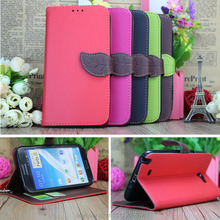 For Note 2 Flip Leather Case for Samsung Galaxy Note 2 N7100 Full Protect Cover Stand Wallet Genuine Leather Phone Case(China (Mainland))