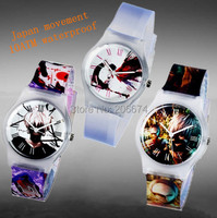 New Anime Jelly Wristwatches Student Ghoul  Pattern watches Woman digital quartz Watch Children watch relogios feminino