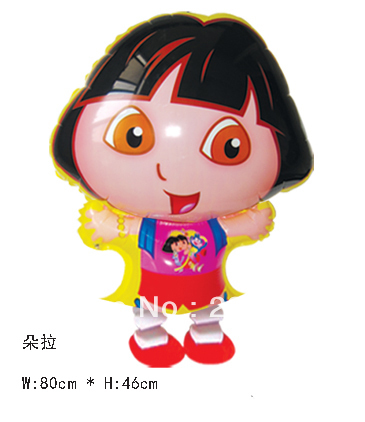 Hot sales! 5 Dora girl walking balloons , helium children's toys, hot - Happy Balloon Family store