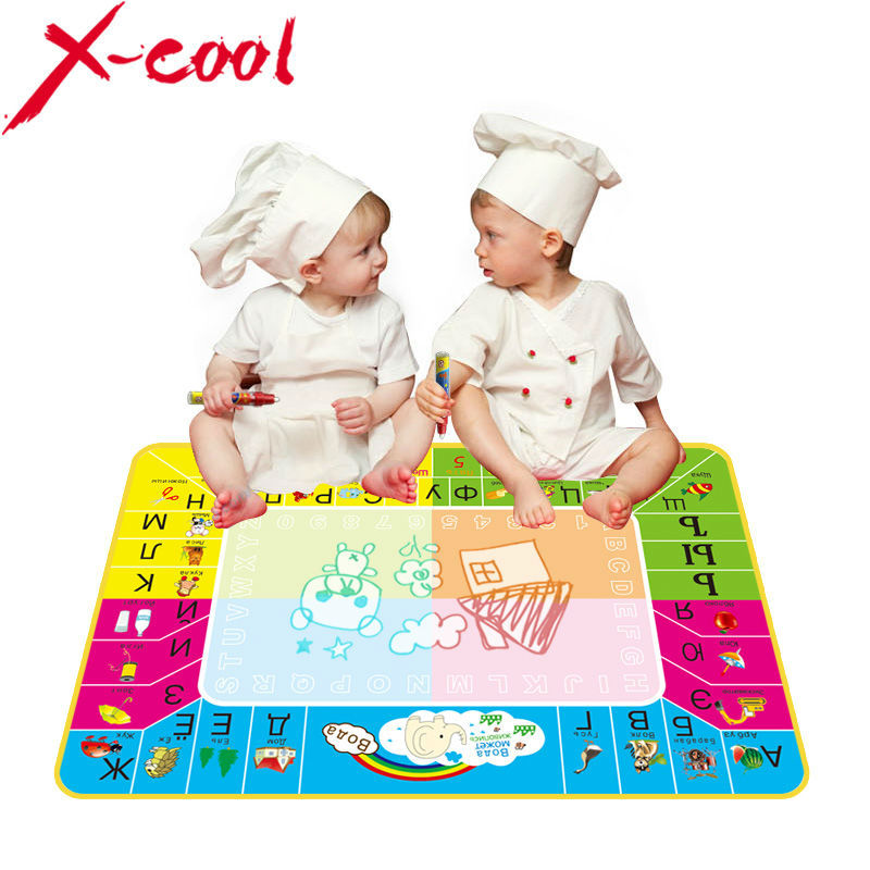 Free shipping xc8875nc 73X49cm New Russian Water Drawing Mat with 1pcs Magic pen /Russian Child's drawing board/drawing mat(China (Mainland))
