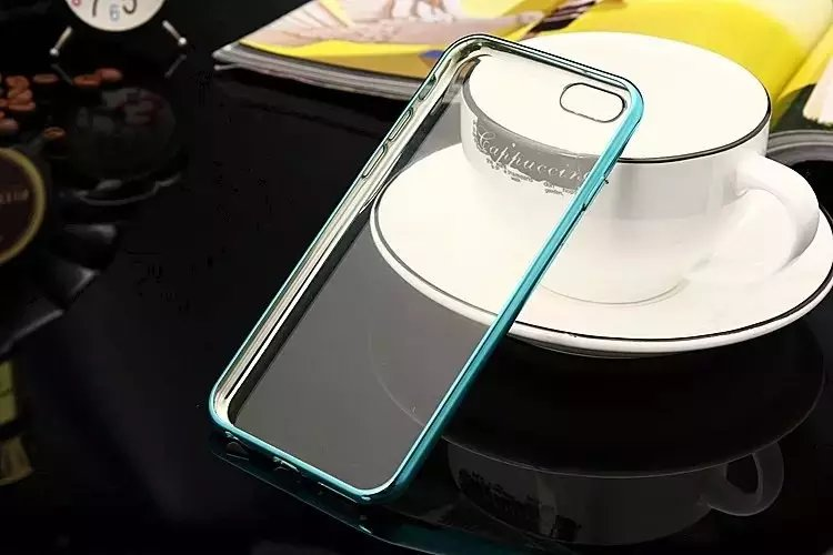 Thin Clear plated Transparent Soft Back Cover colorfull for Apple for iPhone 5 5s SE 6 6S 6S plus