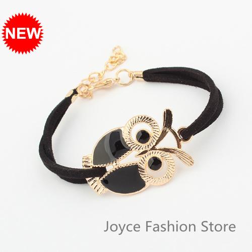 Min. Order $10,New Fashion Bracelet 2014,Vintage Love Charms Owl Bracelet,Arm Candy Bracelets Bangle,B61