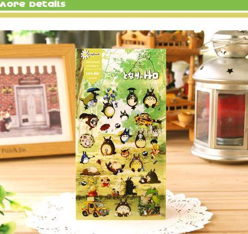 hotsale Japan cartoon totoro design clear PET material epoxy sticker for scrapbooking decoration(China (Mainland))