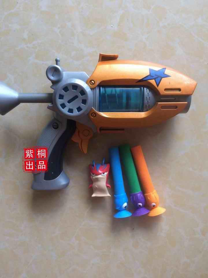 Hot Sale Cartoon Anime Slugterra Play Shot Gun Toy Give 3 Bullets 1 Slugterra Action Figure As Presents, Boy Toy Pistol Gun Gift(China (Mainland))