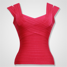 5 Colors High Quality Fashion Sleeveless Double Sling Bandage Top Sexy Bodycon Top Wear(China (Mainland))