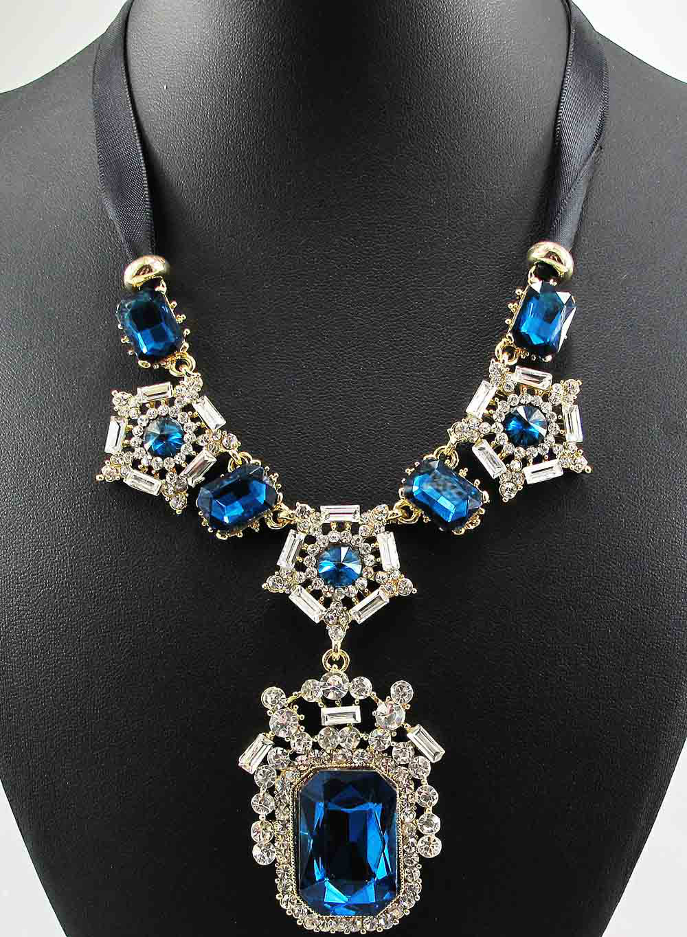 Newest Elegance Gorgeous Fashion Necklace Jewelry crystal Department Statement Necklace Women Choker Necklaces & Pendants Q671(China (Mainland))