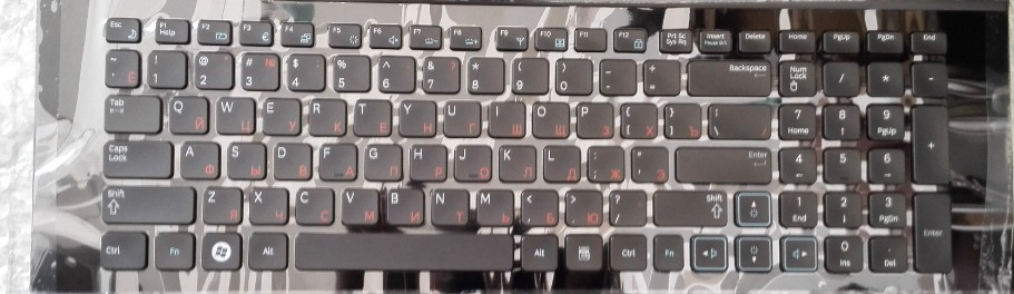 free shipping the Laptop keyboard for SAMSUNG NP RF712   RF711  RF710 RU RUSSIAN layout with FRAME  backlit black<br><br>Aliexpress