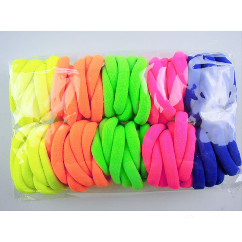 100pcs/Lot Hair Accessories For Girls Women Rubber Bands Seamless Ties Gum Hair Rope Super Elastic Headbands Ponytail Scrunchie(China (Mainland))