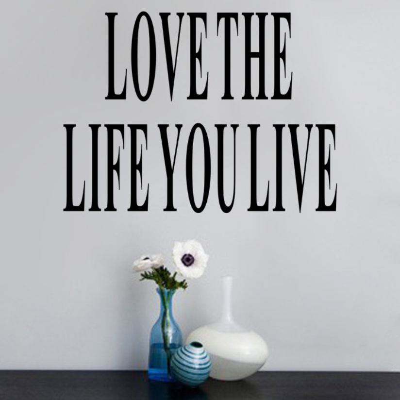 Hot Marketing Love The Life You Live Quote Window Room Home Decor Vinyl Wall Sticker Jul23(China (Mainland))