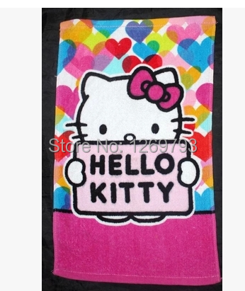 Free shipping Cartoon toalha hello kitty towel Minnie 30*50CM mouse toallas cotton terry towels for children towel(China (Mainland))