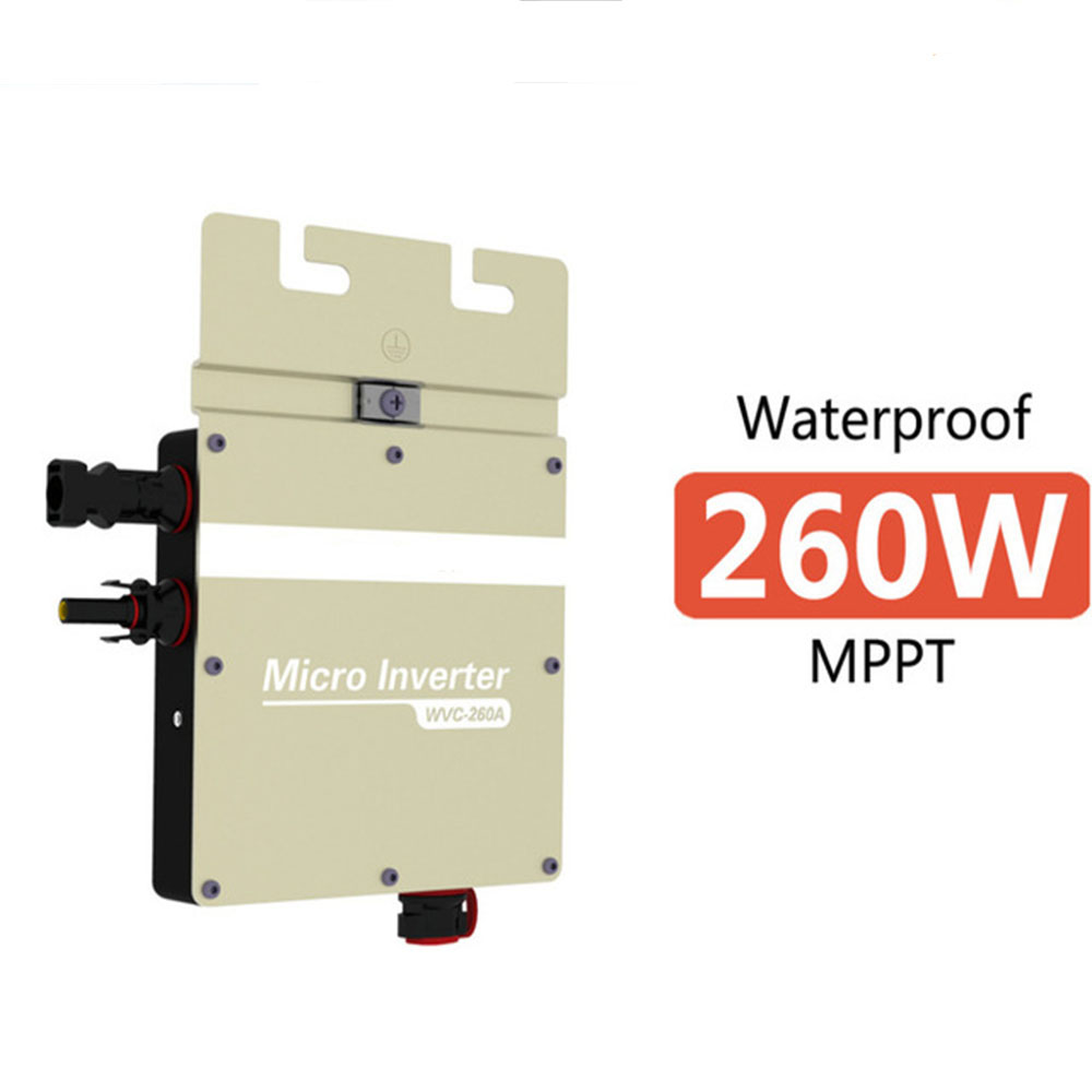 Free shipping DC22V~50V to AC120V or 230V 260W Grid Tie Solar Micro Inverters With Power Line Carrier-current Communication(China (Mainland))