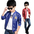 Fashion PU Leather Jackets Boys Coats Autumn Bomber Jackets For Boys Clothes 2 13Y Children s