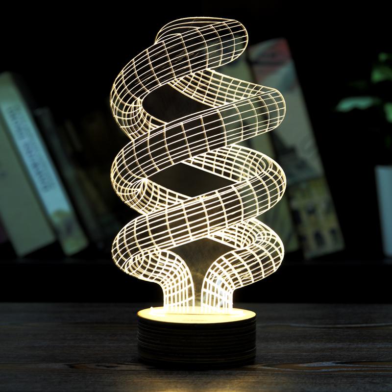 dna shaped 3d bedroom lights led night lamp usb table desk lamps night. Black Bedroom Furniture Sets. Home Design Ideas