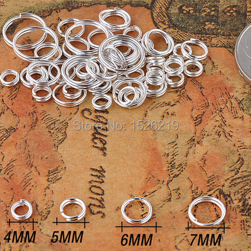 200pcs/lot 4/5/6/8/10/12mm Jump Rings Double Loops Open Jump Rings & Split Rings For Jewelry Making DIY F906(China (Mainland))